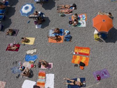Overhead of Sunbathers