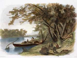 Encampment of the Travellers on the Missouri by Karl Bodmer