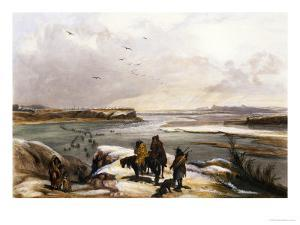 Fort Clark on the Missouri, February 1834 by Karl Bodmer