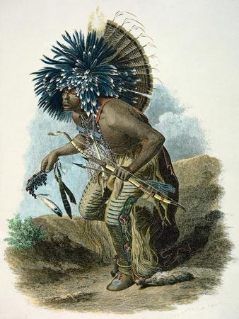 Medicine Man of the Mandan Tribe in the Costume of the Dog Dance, 1834