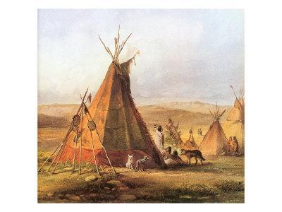 Tepees on the Plain, 1833