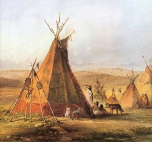 Tepees on the Plain, 1833 by Karl Bodmer