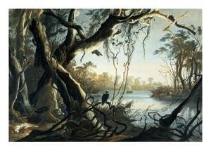 The Mouth of the Fox River, Indiana by Karl Bodmer