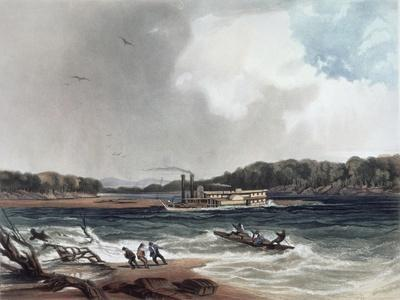 The Steamer Yellow-Stone on the 19th April 1833, Plate 4 from Volume 2 of 'Travels in the…