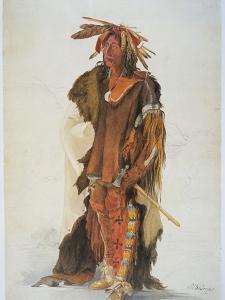 Wahk-Ta-Ge-Li, a Sioux Warrior by Karl Bodmer