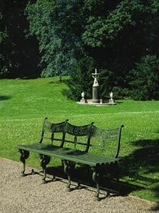 Cast Iron Bench and Fountain by Karl Friedrich Schinkel