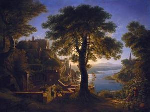 Castle by a river (Schloß am Strom). 1820 by Karl Friedrich Schinkel