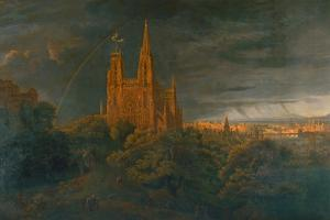 Cathedrale (A Town on a River) by Karl Friedrich Schinkel