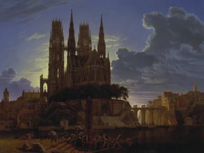 Dom Ueber Einer Stadt. Nach 1813. (Kopie Von K.E.Biermann Um 1830)