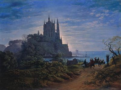 Gothic Church on a Rock by the Sea. 1815