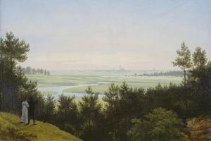 Landscape at Pichelswerder. 1814 by Karl Friedrich Schinkel