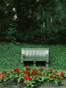 Neo-Gothic Bench in the Park of Babelsberg Palace, Potsdam by Karl Friedrich Schinkel