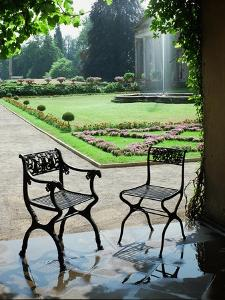 Two Cast-Iron Chairs Designed by Schinkel by Karl Friedrich Schinkel