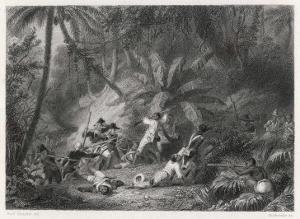 Haiti, San Domingo: Toussaint l'Ouverture is Defeated by the French at the Ravine aux Couleuvres by Karl Giraradet