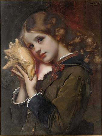 The Sound of the Sea, 1879 by Karl Gussow