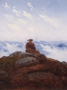 Wanderer on the Mountaintop, 1818 by Karl Gustav Carus