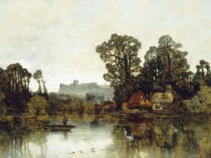 The Thames River with a View onto Windsor Castle by Karl Heffner