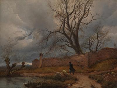 Wanderer in the Storm, 1835 by Karl Julius Von Leypold