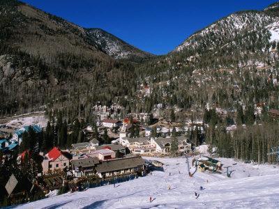 Resort Centre and Main Base of Taos Ski Valley, Taos, New Mexico, USA