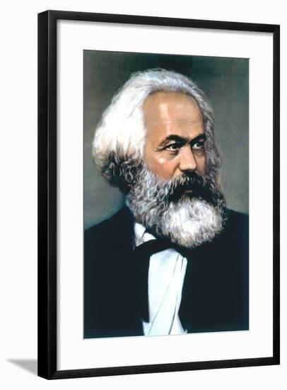 Karl Marx, German Social, Political and Economic Theorist--Framed Giclee Print