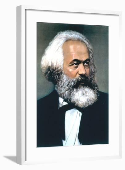 Karl Marx, German Social, Political and Economic Theorist--Framed Giclee Print