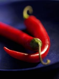 Chillies, Long Red Variety by Karl Newedel