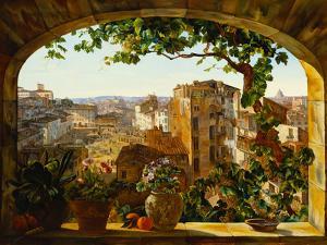 Piazza Barberini, Rome, 1830 by Karl Von Bergen
