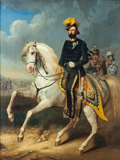 Karl XV, King of Sweden and Norway, c.1860-Carl Fredrik Kioerboe-Giclee Print