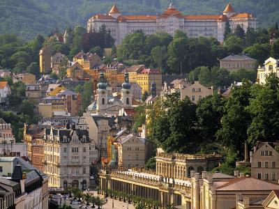 Karlovy Vary Spa Town, West Bohemia, Czech Republic-Walter Bibikow-Photographic Print