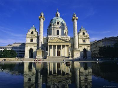 Karlskirche, Vienna, Austria, Europe-Hans Peter Merten-Photographic Print