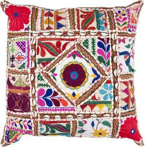 Karma Poly Fill Pillow - Boho Red
