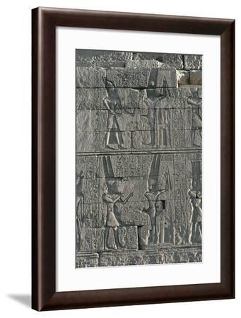 Karnak Temple Complex, Temple of Opet, Relief Depicting Offerings to God Min--Framed Giclee Print