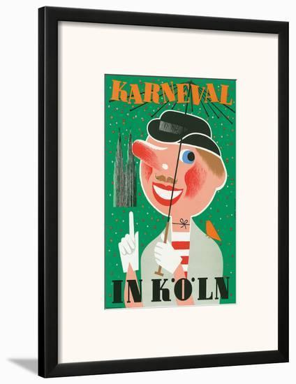 Karneval In Koln: Germany c.1950-Anton Wolf-Framed Art Print