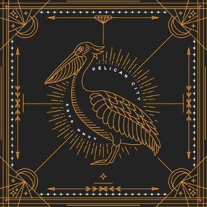 Vintage Thin Line Bird Label by karnoff