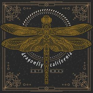 Vintage Thin Line Insect Label by karnoff