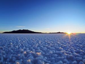 Bolivia, Potosi Department, Daniel Campos Province, Sunset over the Salar de Uyuni, the largest sal by Karol Kozlowski
