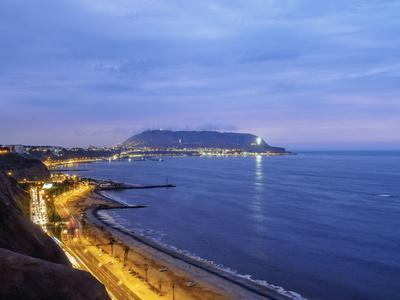 Coast of Miraflores District, Lima, Peru, South America