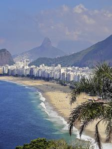 Copacabana Beach viewed from the Forte Duque de Caxias, Leme, Rio de Janeiro, Brazil, South America by Karol Kozlowski