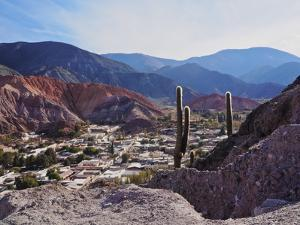 Elevated view of the town and the Hill of Seven Colours (Cerro de los Siete Colores), Purmamarca, J by Karol Kozlowski