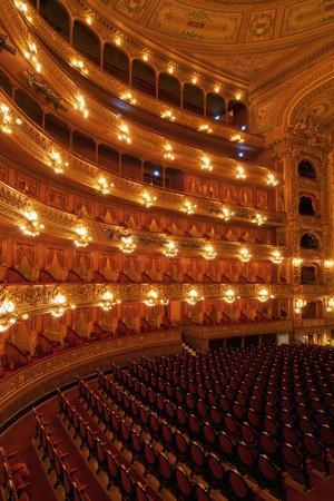 Interior view of Teatro Colon and its Concert Hall, Buenos Aires, Buenos Aires Province, Argentina,