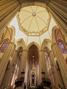 Interior view of the Sao Paulo See Metropolitan Cathedral, Praca da Se, City of Sao Paulo, State of by Karol Kozlowski