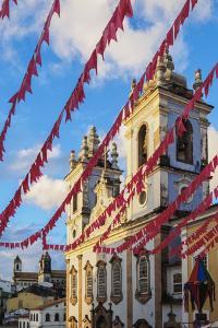 Nossa Senhora do Rosario dos Pretos Church, Pelourinho, UNESCO World Heritage Site, Salvador, State by Karol Kozlowski