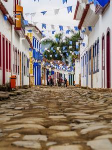 View of the Old Town, Paraty, State of Rio de Janeiro, Brazil, South America by Karol Kozlowski