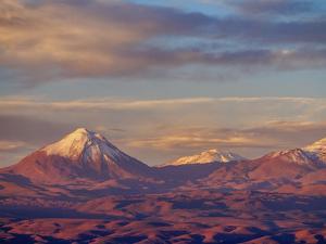 View over Atacama Desert towards Cerro Colorado, San Pedro de Atacama, Antofagasta Region, Chile, S by Karol Kozlowski