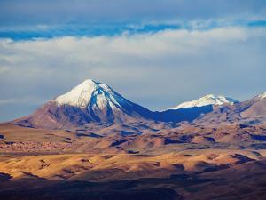 View over Atacama Desert towards the Cerro Colorado, San Pedro de Atacama, Antofagasta Region, Chil by Karol Kozlowski