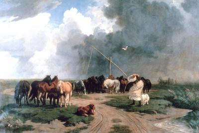 Horses in the Storm, 1862
