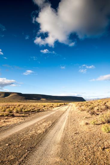 Karoo Desert Gravel Road-dan-edwards-Photographic Print