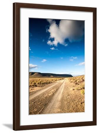 Karoo Desert Gravel Road-dan-edwards-Framed Photographic Print