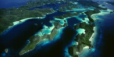 Karst Beehive Islands That Form the Wayag Island Group in Raja Ampat, Indonesia-David Doubilet-Photographic Print