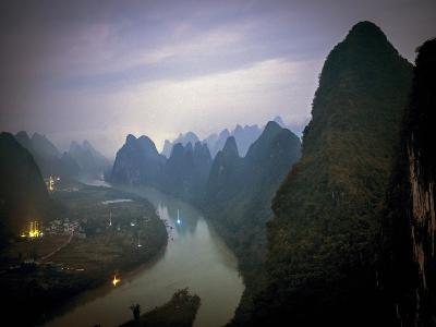Karst Mountains Along the Li River, Guilin, Guangxi Province, China-Tino Soriano-Photographic Print